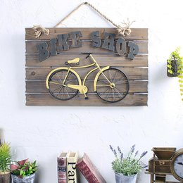 Wholesale Plaque Designs - Bicycle Wall Hanging Designs Vintage Handmade Wall Hanging Wall Art Sign Plaque Interior Decoration Enjoy The Little Things
