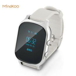 Wholesale Watchs Children - Wholesale- T58 Hot Kids GSM GPS Tracker SIM For Children Kid Smart Watch Phone Smart Bracelet Children Watchs for iOS Android