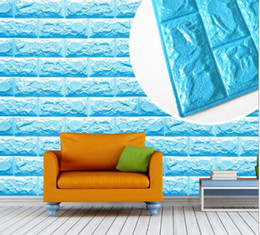 Wholesale Blue Wall Art Panels - Moisture-Proof 3D wall panel Fireproof 3D wall panel faux brick wall panel