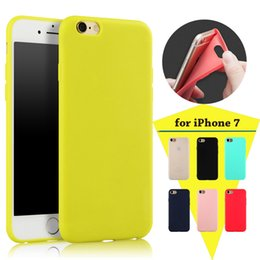 Wholesale Iphone 5s Gel Cover - For iPhone 7 Case Ultra Thin Slim Silicone Matte Frosted TPU GEL Cover For iPhone 7 Plus 6 6S 4.7 5.5inch SE 5 5S With Hang Rope Hole 10pcs