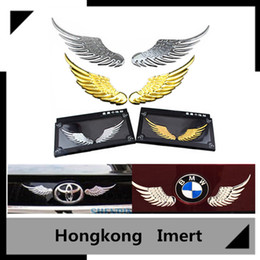 Wholesale Eagles Car Stickers - Angel wings for car stickers metal car stickers body decoration posts posted personality eagle wings Car Stickers