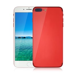 Wholesale Video Specials - Special Edition Red Goophone i7 Plus Android 6.0 3G WCDMA Quad Core MTK6580 1GB 4GB 8MP Camera GPS WiFi Nano-Sim Card Metal Body Smartphone
