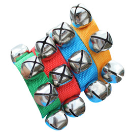 Wholesale Rattles Hands Foots - Wholesale- Baby Rattles Hand Wrist Foot Bell Toys Educational Dancing Accessories Toy for Boys and Girls Best Price