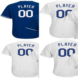 Wholesale Cheap Custom Baseballs - Hot Sale Mens Womens Kids Toddlers Los Angeles Custom 2017 Postseason Cheap Best Quality Stitched Logos Royal White Baseball Jerseys