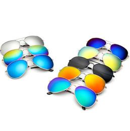 Wholesale Eyeglass Frames Man - Unisex Fashion Sunglasses Reflective Frog Mirror Retro Vintage Men Women Outdoor Frog Sunglasses Classic Eyeglasses KKA1408