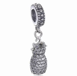 Wholesale Dress For Love - 2017 Spring Mother Day Crystal Dress Dangle Drop Charm Fit For Pandora Bracelet DIY Bead Charm Sterling Silver Jewelry
