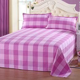 Wholesale Purple Quilt Cover Sets - Plaid Coarse cloth Bedlinen Quilt Cover Set Twin Single Double Europe Queen Size Bedding Set Deep purple pink red