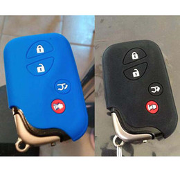 capa para chave lexus Desconto silicone pele chaveiro de borracha caso da tampa de proteção de Lexus IS250 ES240 ES350 RX270 RX350 RX300 acessórios remoto keyless titular