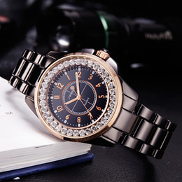 Ginebra ceramica relojes mujeres online-SINOBI 2017 Moda Diamantes Reloj de la marca de fábrica de las mujeres de imitación de cerámica Banda de reloj Top Señoras Ginebra Cuarzo Reloj femenino