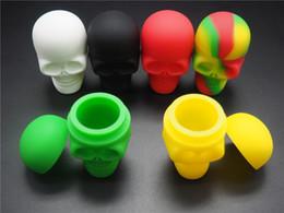 2019 bastoni slick Contenitore antiaderente dei contenitori slick del contenitore del silicone di NonStick del cranio di 100pcs / lot per il barattolo del silicone