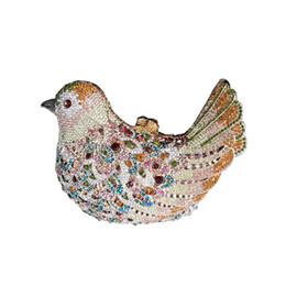 Wholesale Dinner Party Purses - New Crystal Bird Clutch Purse Small Animal Clutch Bags for Womens Wedding Prom Dinner Party Luxury Bird Evening Bag