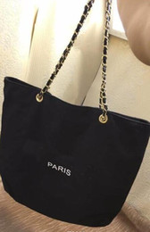 Wholesale Beach Wash - 2017 NEW~VIP gift shopping Canvas Bag with chain luxury pattern Travel Bag Women Wash Bag. Cosmetic Storage case fashion canvas beach bag