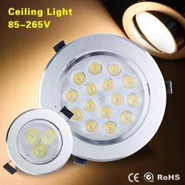 Wholesale Ceiling Spot Light Bulb - CE RoHS UL High power Led ceiling lamp 9W 12W Bulb 110-240V LED spot lighting bulb led down light downlight spotlight with drive