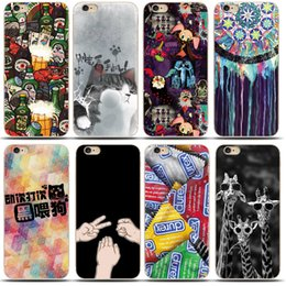 Wholesale Dhl Free Shipping Iphone Cases - Soft Case For iPhone 5s 5 6s 6 Plus Creativity Transparent Ultra-Thin Painted Silicone TPU Case For iPhone 5s 6s Plus 7 free shipping by DHL