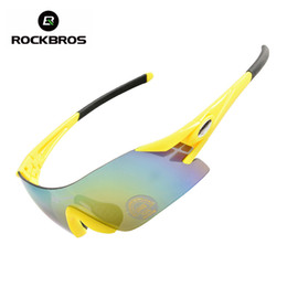 Wholesale wholesale cycling equipment - Wholesale- ROCKBROS Colorful Cycling Glasses Women's Men's Outdoor Sports Bike Bicycle Windproof Equipment Sunglasses Eyewear 5 Colors