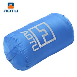 Wholesale Sleeping Bags Polar Fleece - Wholesale- AOTU Outdoor Ultralight Sleeping Bag Camping Traveling Warm Polar Fleece Sleeping Bag Multifunctional Portable Soft 2 Colors