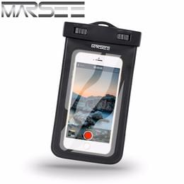 Wholesale Dustproof Phones - Waterproof phone Case For iphone 7 7 plus MARSEE IPX8 Universal Dry Bag with LANYARD Best WaterProof Dustproof Snow proof Pouch