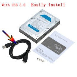 "Wholesale Sata Hard Drive Caddy Usb - Wholesale- 2.5"" and 3.5"" Inch SATA Converter Adapter hdd box usb 3.0 external hard drive enclosure hard disk box Tool Free HDD SSD Caddy"