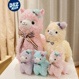 Wholesale Toy Yellow Sheep - Wholesale-Pernycess Alpacasso mud horse standing Topper hat alpaca stuffed animal sheep toy doll gift