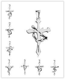 Wholesale Twelve South Wholesale - Punk Titanium Stainless Steel Chain Long Chokers Twelve Constellation Pendant Necklace for Men Collar Woman Cross Necklace