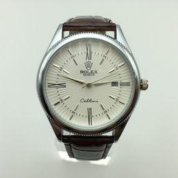 Wholesale women business wear - Classic men's business casual quartz watch - leather strap quartz watch, stylish and elegant , women wearing watches,
