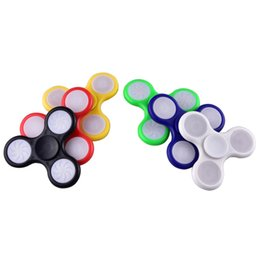 Wholesale Wholesale Vehicle Lights - LED Light Hand Spinners Fidget Spinner Top Quality Triangle Finger Spinning Top Colorful Decompression Fingers Tip Toys OTH384