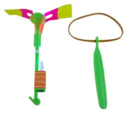Venda por atacado - LED incrível voando setas helicóptero guarda-chuva de luz pára-quedas crianças brinquedos com saco de opp 1200 pçs / lote DHL FEDEX frete grátis de