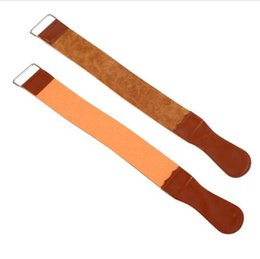 Wholesale Razor Sharpening Strop - New products hot sale Men's Durable Cow Leather Manual Strop Straight Razor Knife Sharpening Strop Belt Barber Razor Male Shaving Tools