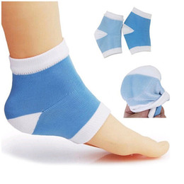Wholesale Gel Spa Socks - Gel Heel Socks Moisturing Spa Soft Silicone Socks Women Men Gel Pad Feet Care Cracked Foot Dry Hard Skin Protector ZA2779