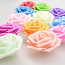 Wholesale Box Roses Wedding - 2017 new 6cm foam flower simulation pe rose head lantern light string rose flower head candy box wedding wholesale