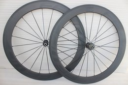 Wholesale Road Bike Wheelset Lightweight - 700c road bike carbon wheelset 60mm clincher carbon wheels china ultra lightweight full carbon fiber bike wheels