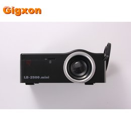 Wholesale Led Christmas Business Cards - Wholesale-Gigxon - G18 2016 Best Christmas Gift Mini Projector with HDMI TF Card USB CVBS LED proyector for Home theater Cinema Pico
