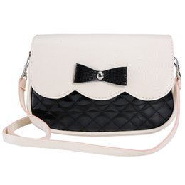 Wholesale Girl Cell Phone Wallet - Wholesale- New Women Ladies PU Leather Wallet Fashion Lovely Girl Bowknot Bags 2017 High quality Clutch Wallets