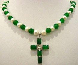 Collana verde pendente di giada online-Spedizione gratuita * * * * * * * * * * * * * * * * * * * * * * * * * * * * * * * * * * * * * * * * * * * * * * * * * * * * * Nuova collana pendente in oro bianco con perla verde giada