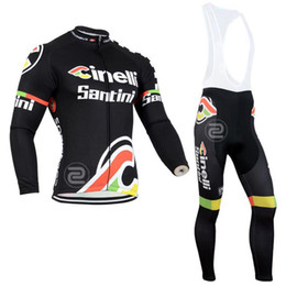 Wholesale Cheap Padding - 2017 Tour de France Cheap Men Short Cycling Suit CLASSIC CINELLI WHITE BLACK Bike Jersey + Bib trousers with Gel pad Long sleeves Bicycle
