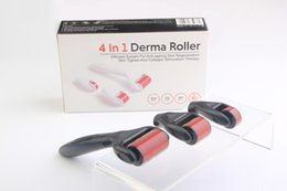 Wholesale Eye Derma Roller - 4 in 1 Kit Set DRS Derma roller Stainless Titanium Alloy Micro needles 3 heads (1200+720+300 needles) Face Eye Skin Care acne removal