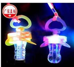 Wholesale Toys Pacifier Flashing - 2017 NEW Light whistle, flash whistle, flash nipples, pacifiers light, led toy, Party Supplies free shipping ghjk