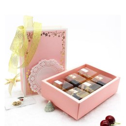 Wholesale Wedding Cake Favor Boxes Wholesale - Sweet Pink Gift Box For Girls Wedding Birthday Packaging Cake Cookies Biscuits Gift Boxes Free Shipping ZA3989