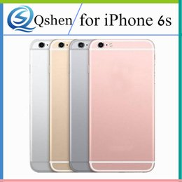 Wholesale Iphone Back Logo - Replacement Back Housing for iPhone 6S 6S Plus Back Battery Cover Case with LOGO and Side Button