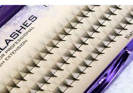 caixa de cílios individuais Desconto 1 box Mulheres 0.07mm C 10D Onda Cílios Individuais Mink Extensão De Seda Preta Macia Falso Eye Lashes ferramentas