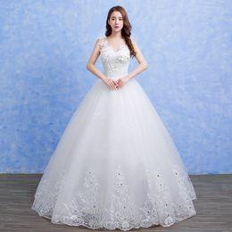 645f557e42 2017 China ankle length transparent lace V neck backless floral bride dress  hot sale factory supply gift wedding dresses