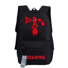 Wholesale Marvel Canvas - Wholesale- Epoch 2016 New Fashion Deadpool Backpack Marvel Comics Superheros Shoulder School Bag For Teenagers Canvas Luminous Backpack