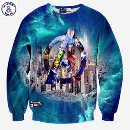 Wholesale Film Animals - Hip Hop New casual hoodies men women 3d sweatshirts print film characters and buildings slim long sleeve pullovers