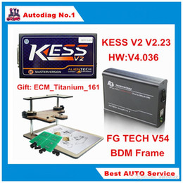 Wholesale Galletto Frame - Newest Version ECU Programmer V2.30 KESS V2 + FG TECH Galletto 4 V54 + BDM FRAME Full Adapters KESS V4.036 FGTECH V54 No Tokens