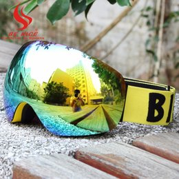 Wholesale Snow Ski Goggles Glasses - Wholesale- BE NICE professional snowboards high coverage ski goggles snow glasses snowboard goggles anti fog winter glasses for adult 4500