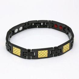 Магниты, мм онлайн-2 браслета магнита 10 мм PCS Магнитный браслет нержавеющей стали с черными + золотыми мужчинами и женщинами