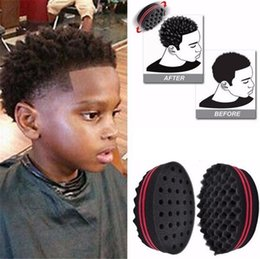 Wholesale Magic Curls - Magic Double head Sponge Men Barber Hair Brush Black Dreads Locking Afro Twist Curl Coil Brush Hair Styling Tools Hair Care b930
