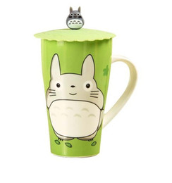 Wholesale Bamboo Cup Mat - Wholesale- Kawaii NEW TOTORO 10CM Safe Silicone Cup Lid Mug Cover ; Water Drinking Cup Mug's Lid Cover TOP MAT Pad
