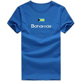 Wholesale Quick Walk - Bahamas T shirt Walk sport short sleeve Lycra design tees Nation flag clothing Unisex cotton Tshirt