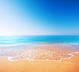 superbes images photographiques Promotion Blue Sky Seawater Beach Photography Backdrops Beautiful Scenery Fond de vacances en famille Summer Wedding Photo Backdrop Booth Props